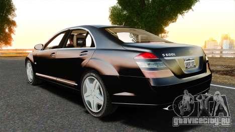 Mercedes-Benz S600L 2008 для GTA 4 вид слева