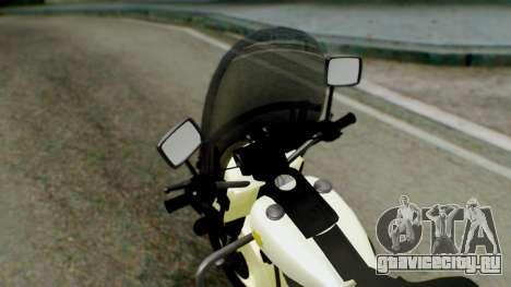 New Police Bike для GTA San Andreas вид сзади