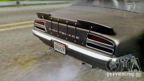 GTA 5 Imponte Nightshade IVF для GTA San Andreas вид сзади