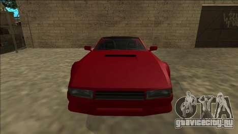 Cheetah Cabrio для GTA San Andreas вид сзади