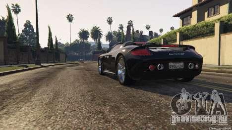 Porsche Carrera GT 2.0 для GTA 5 вид сзади