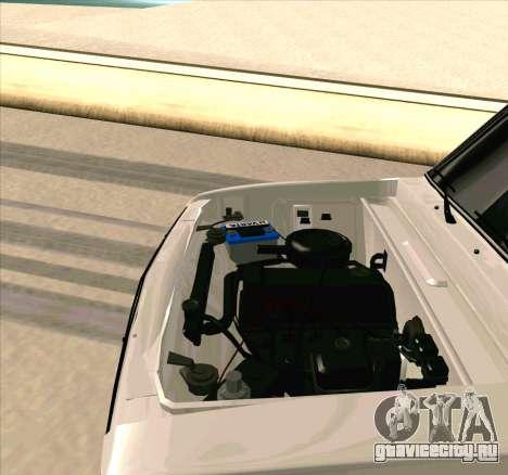 Ваз 2106 [ARM] для GTA San Andreas вид изнутри