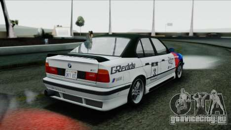 BMW M5 E34 US-spec 1994 (Full Tunable) для GTA San Andreas вид изнутри