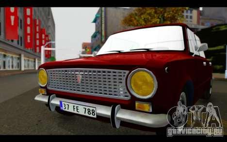 Fiat 124 для GTA San Andreas вид сзади