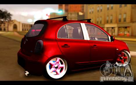 Nissan March 2011 Hellaflush для GTA San Andreas вид слева