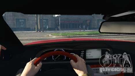 Mercedes-Benz E63 AMG v2.1 для GTA 5 вид сзади справа