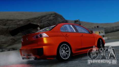 Mitsubishi Lancer Evolution X Tunable New PJ для GTA San Andreas вид сзади