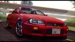 Nissan Skyline R-34 GT-R V-spec 1999 No Dirt для GTA San Andreas