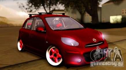 Nissan March 2011 Hellaflush для GTA San Andreas
