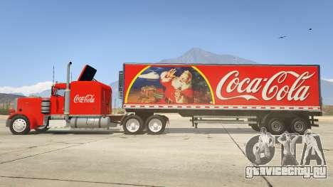 Coca Cola Truck v1.1 для GTA 5 вид слева