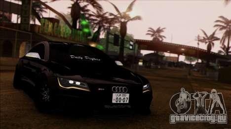 Audi RS7 Daily Drifters для GTA San Andreas вид сзади слева