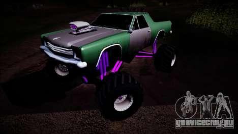 Picador Monster Truck для GTA San Andreas вид сбоку