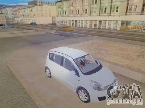 Nissan Note v1.0 Final для GTA San Andreas вид справа