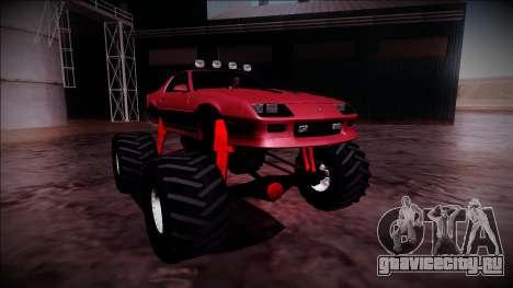 1990 Chevrolet Camaro IROC-Z Monster Truck для GTA San Andreas вид справа