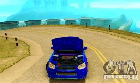 Subaru Impreza WRX STI Spec-C для GTA San Andreas вид изнутри