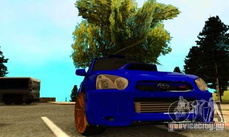 Subaru Impreza WRX STI Spec-C для GTA San Andreas вид сзади