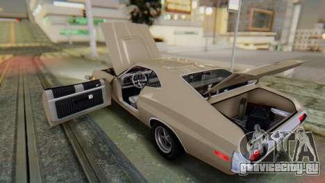 Ford Gran Torino Sport SportsRoof (63R) 1972 PJ2 для GTA San Andreas вид изнутри