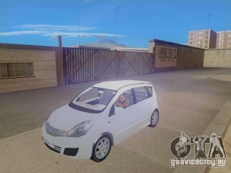Nissan Note v1.0 Final для GTA San Andreas