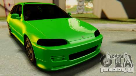 Honda Civic Vti 1994 V1.0 для GTA San Andreas вид справа