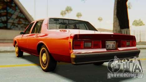 Chevrolet Impala 1984 для GTA San Andreas вид сзади слева
