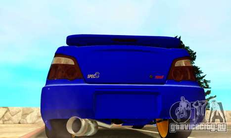 Subaru Impreza WRX STI Spec-C для GTA San Andreas вид справа