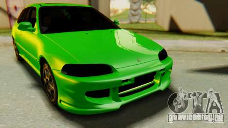 Honda Civic Vti 1994 V1.0 для GTA San Andreas вид сзади