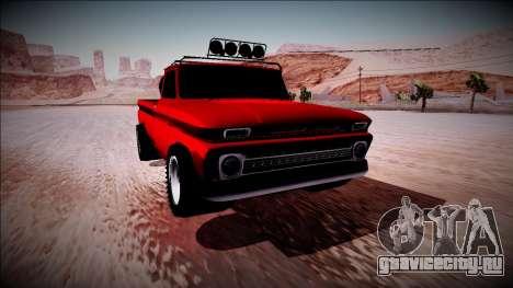 Chevrolet C10 Rusty Rebel для GTA San Andreas вид изнутри