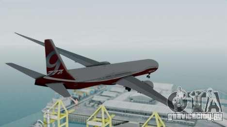 Boeing 777-9x House для GTA San Andreas вид справа