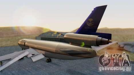 McDonnell-Douglas DC-10-30 Saudia для GTA San Andreas вид слева