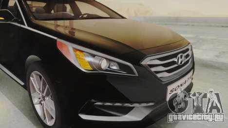 Hyundai Sonata Turbo 2.0 2015 V1.0 Final для GTA San Andreas вид сзади