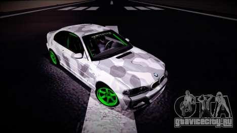 BMW M3 E46 Drift Monster Energy для GTA San Andreas вид справа