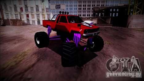 GTA 5 Karin Rebel Monster Truck для GTA San Andreas вид справа