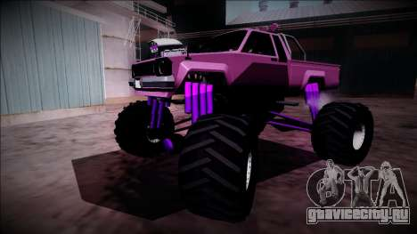 GTA 5 Karin Rebel Monster Truck для GTA San Andreas вид снизу