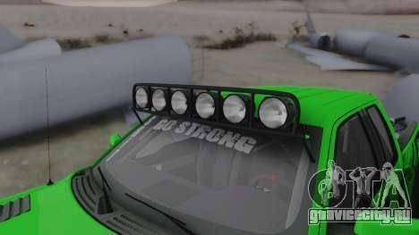 Ford F-150 SVT Raptor 2012 для GTA San Andreas вид изнутри