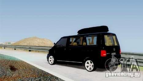 Volkswagen bus By.Snebes для GTA San Andreas вид сзади слева