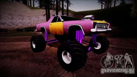Picador Monster Truck для GTA San Andreas вид справа
