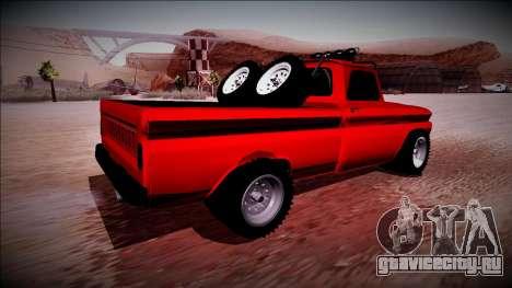 Chevrolet C10 Rusty Rebel для GTA San Andreas вид сзади слева