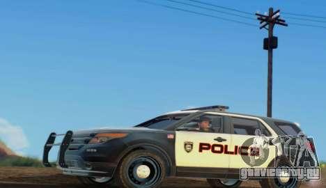 Ford Explorer Police для GTA San Andreas вид слева