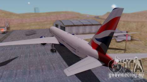 Boeing 777-9x British Airways для GTA San Andreas вид слева