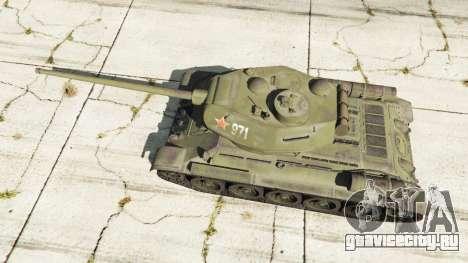 Т-34-85 для GTA 5 вид сзади