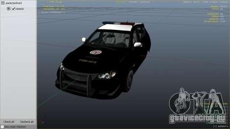 LAPD Subaru Impreza WRX STI для GTA 5 вид справа