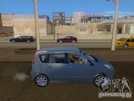 Nissan Note v1.0 Final для GTA San Andreas вид слева