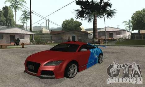 Audi TT-RS Tunable для GTA San Andreas вид сзади слева