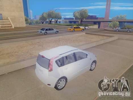 Nissan Note v1.0 Final для GTA San Andreas вид сзади слева
