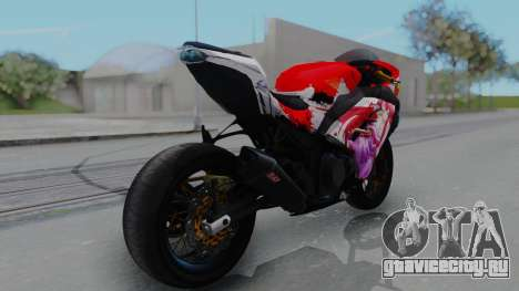 Kawasaki Ninja FI Custom Rias Gremory Itasha для GTA San Andreas вид слева