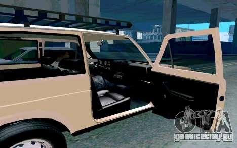 ВАЗ Нива для GTA San Andreas вид изнутри