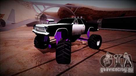 Picador Monster Truck для GTA San Andreas вид снизу