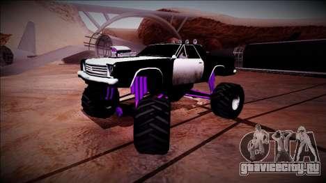 Picador Monster Truck для GTA San Andreas вид снизу
