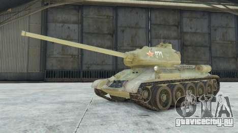 Т-34-85 для GTA 5 вид справа