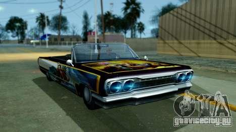 Savanna New PJ для GTA San Andreas вид сзади слева